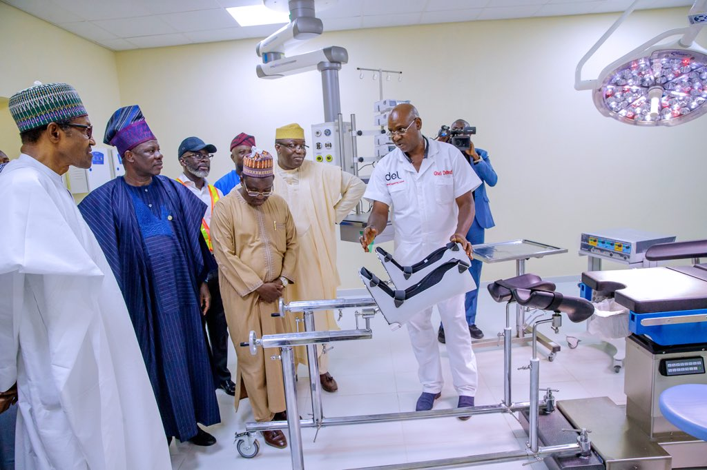 D7bw PRX4AAaBSG - Photos: Buhari in Ogun to commission infrastructural projects