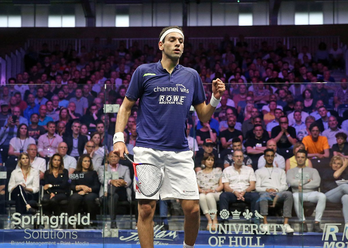test Twitter Media - It will be World No.1 v World No.2 as @MoElshorbagy booked his place in the final after getting the better of @karimabdelgawad   #WhereLegendsAreMade #BritOpen19 https://t.co/QrPIDCQDPK