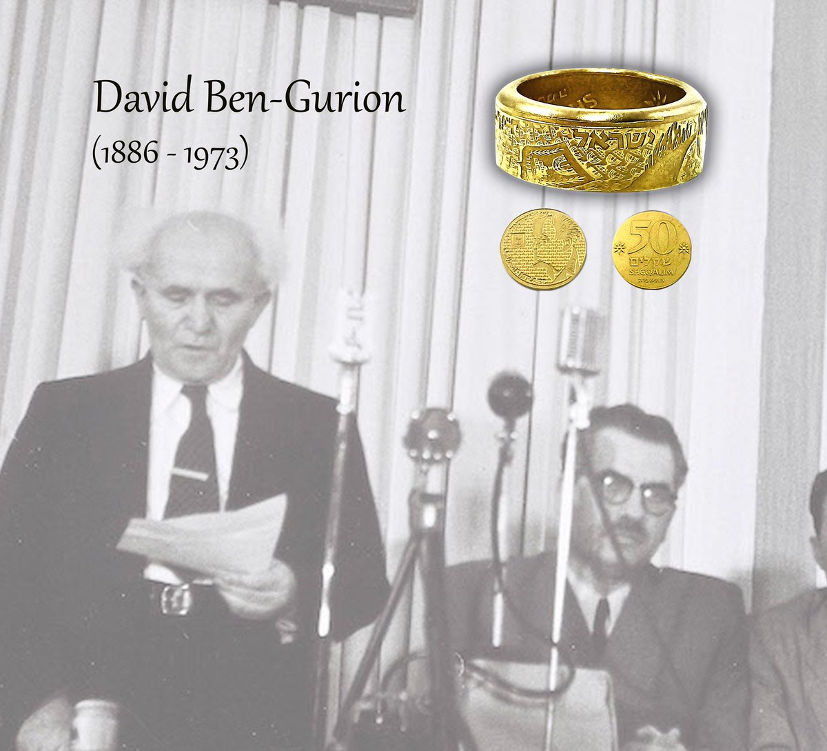 A leader, a visionary, a builder. Check out David Ben Gurion Coin Ring #Israel #Handmade #Zion #Jewish Lira Vintage #Judaica  https://www.ebay.com/ulk/itm/173375860010… @eBay