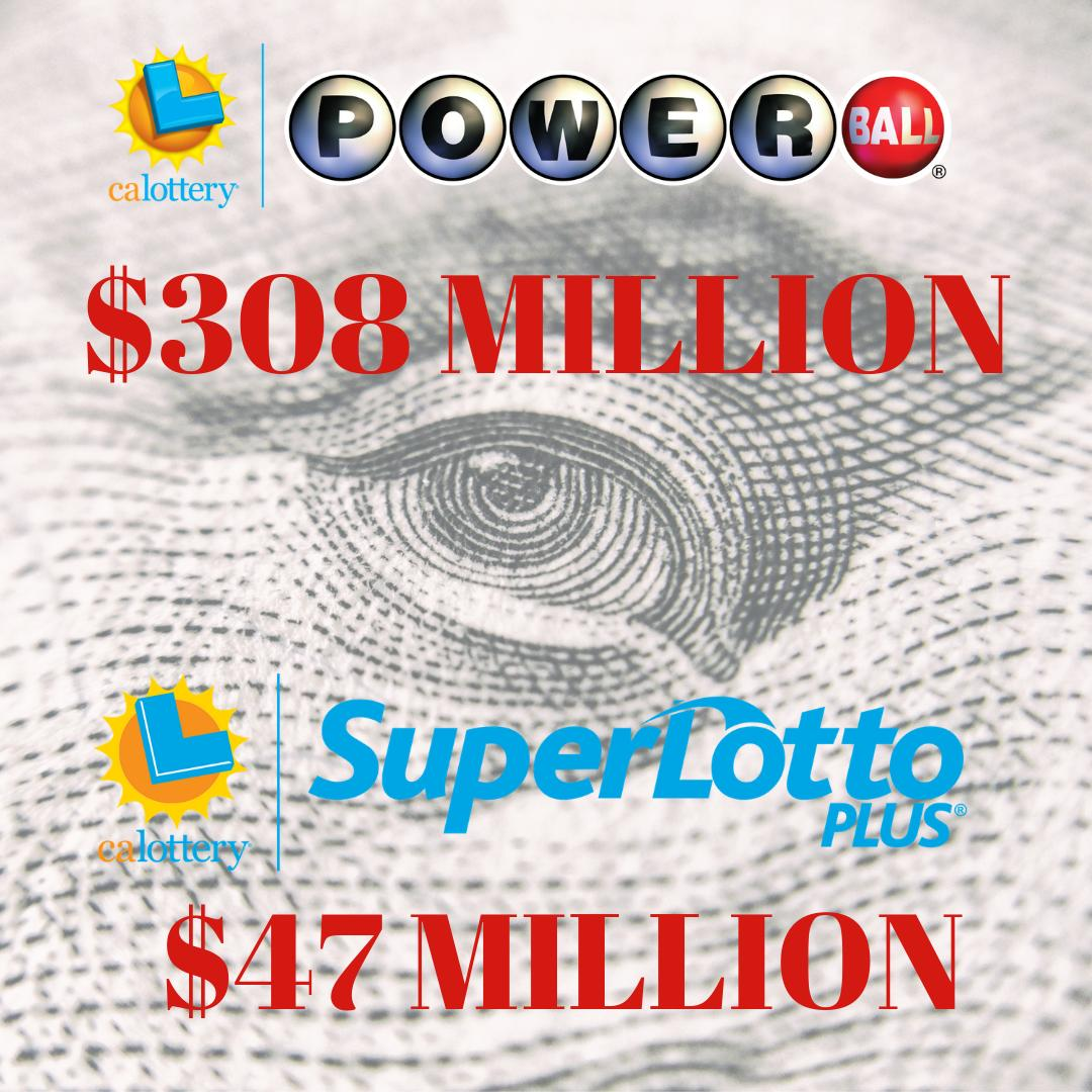 Do you have your eye on these jackpots??? #calottery #powerball #superlottoplus