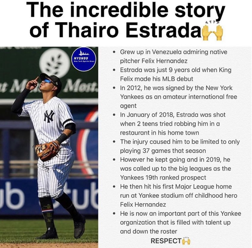 Thairo Estrada is an inspiration! #yankees #nyyankees