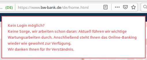 Bw bank online banking