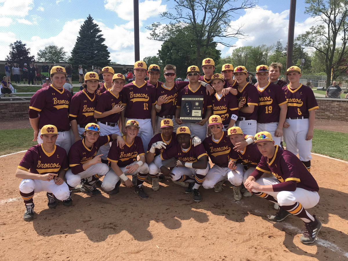 Broncos win 6th consecutive IHSA 3A Regional Championship @MontiniCatholic. On to Sectionals!  #BroncoDugout #RoadToState<br>http://pic.twitter.com/oWiRpiWqNL