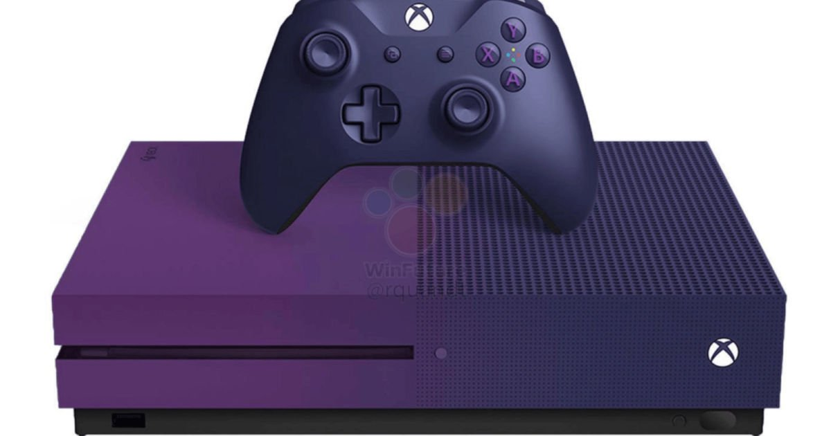 Leak shows Microsoft's very purple 'Fortnite' Xbox One S