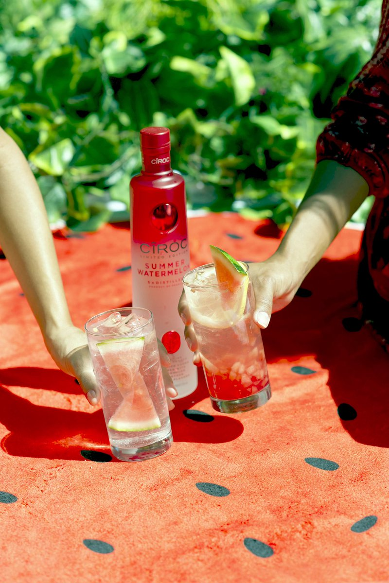 The weekend is here! Sip on a taste of summer with a CÎROC cocktail made with the Limited Edition Summer Watermelon. #CIROCTHESUMMER
