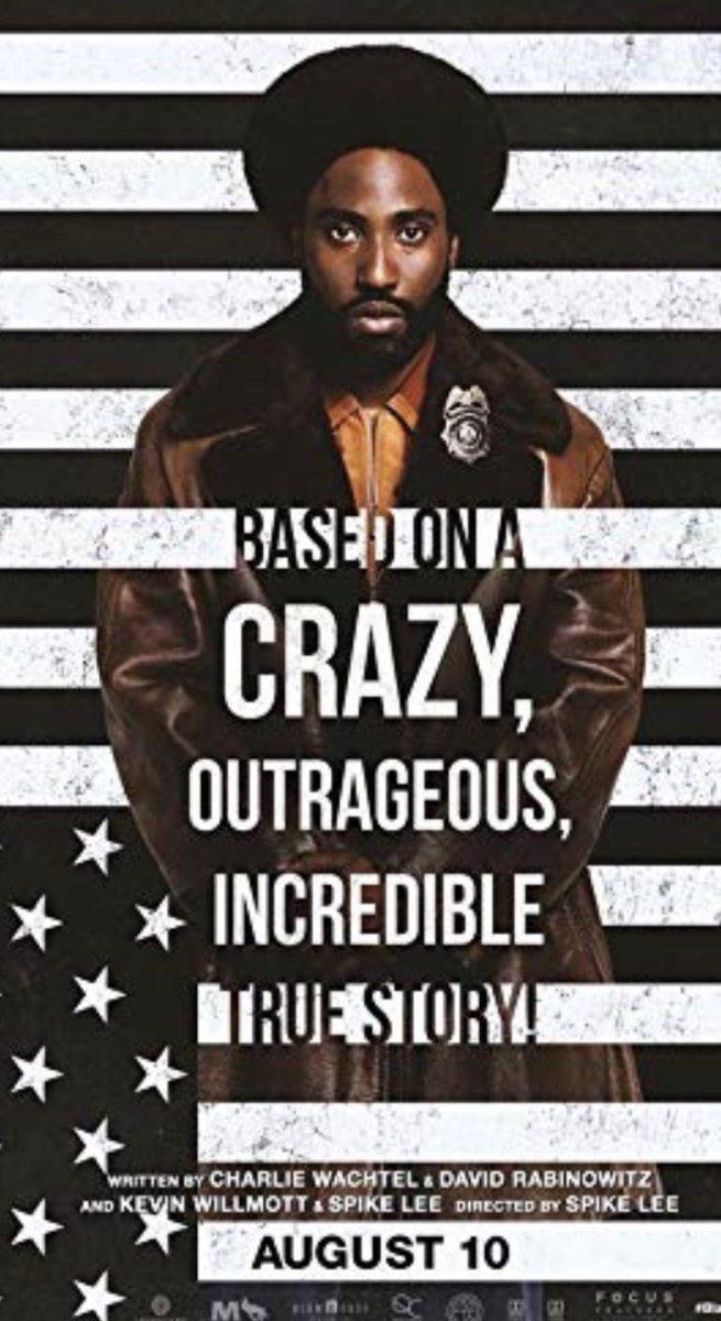 Just watched @BlackKlansMan excellent film. #SpikeLee 👏👏👏