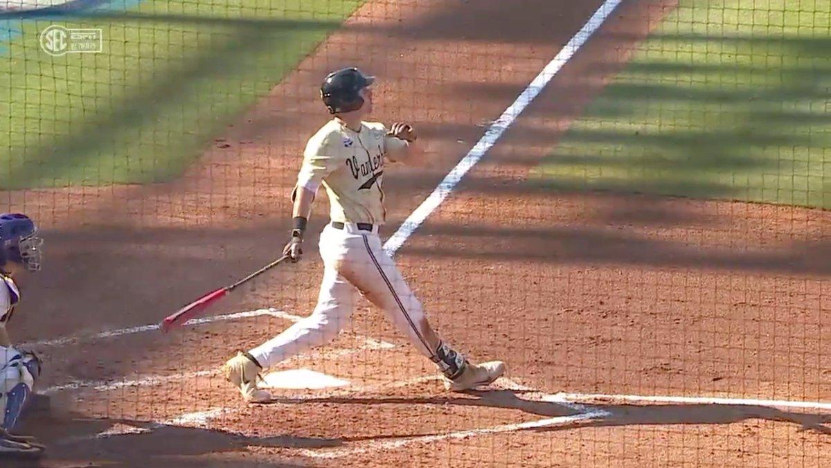 JJ Bleday destroyed this baseball 😳