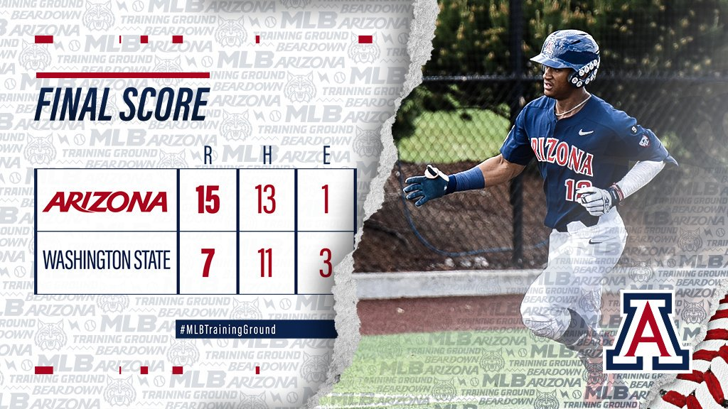 #WinnerWinner!! Cats beat the Cougs, 15-7! Arizona closes out the regular season with a -game win streak and a 13-1 record in May   NCAA Tournament selection show is Monday at 9 a.m. MST on ESPNU   #MLBTrainingGround | #BearDown <br>http://pic.twitter.com/PQO9SZTObV