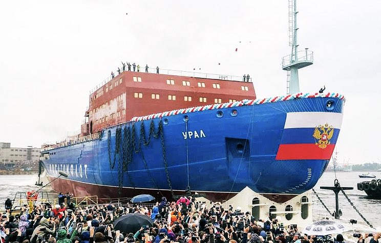 The Ural, a third nuclear-powered icebreaker of Project 22220, was launched into the water in St. Petersburg on Saturday   http:// tass.com/defense/1060090  &nbsp;   #Arctic  #Lavrov: we are responsible for the security of The Northern Sea Route   http://www. vesti.ru/doc.html?id=31 45023 &nbsp; …  @AmbJohnBolton<br>http://pic.twitter.com/2CGcIwDkcD