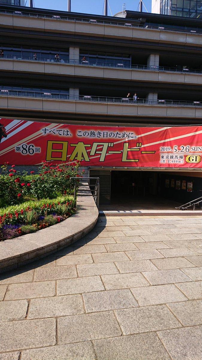 今日はダービーデー!ってことで、日本ダービー生観戦です♪