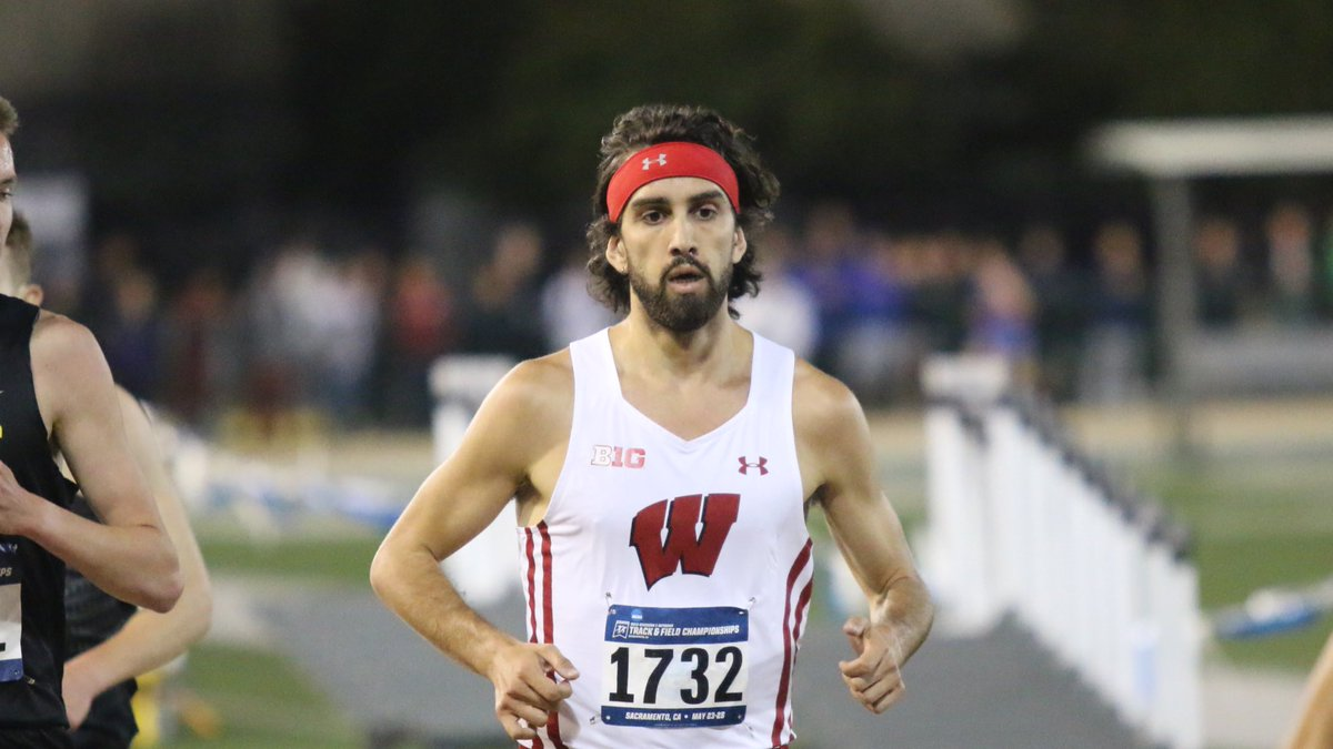 Morgan finishes second in his section with a season-best time of 13:46.76 to punch his ticket to Texas! #OnWisconsin