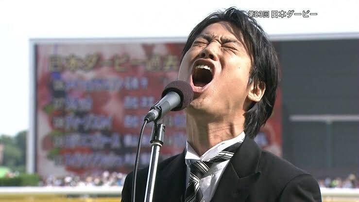 桐谷健太アニキの独唱カッコよかったよね。  【現地撮影・高音質】第83回東京優駿・桐谷健太さんによる国家独唱 National Anthem of Japan. https://t.co/vNAY1yzPix @YouTubeより