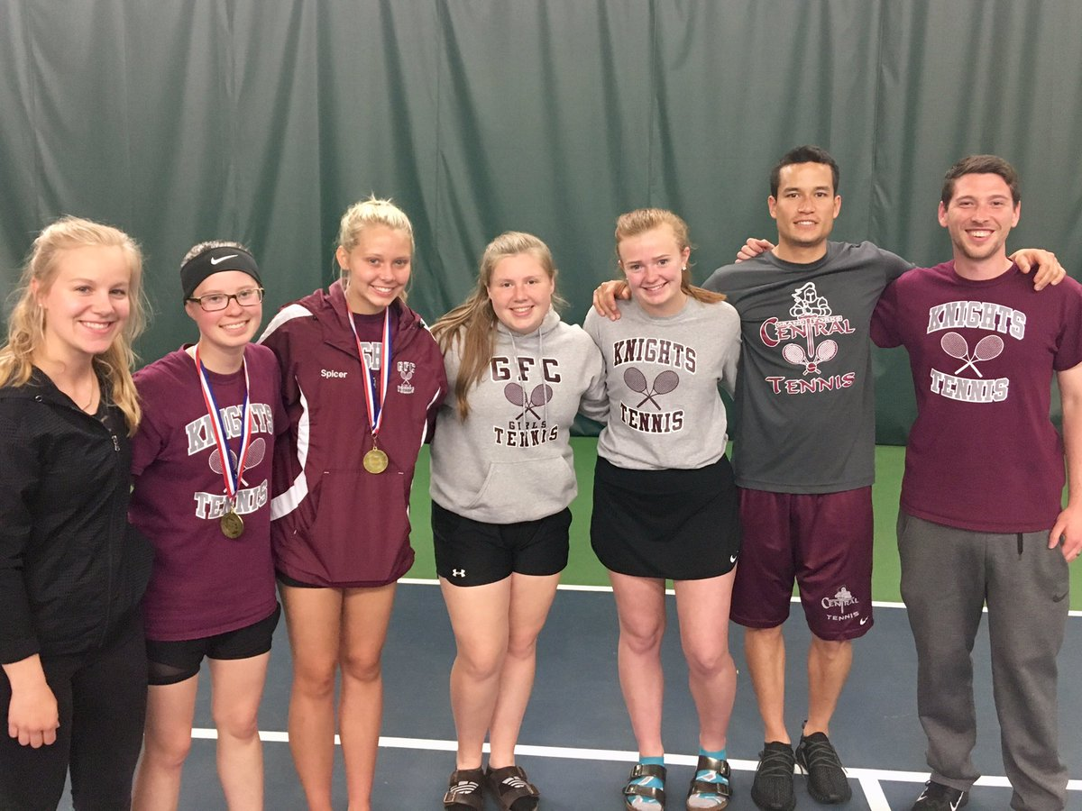 Congrats to @GFC_Activities Girls' tennis on a great finals round at the EDC tournament. Gabby Spicer/Katie Stauss - 2nd place and Sophie Welsh/Emily Morken - 3rd place. Spicer and Stauss named to the all-Edc team  AND Stauss one of the EDC senior athlete of the year nominees.