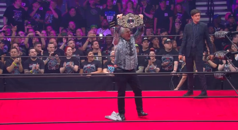 Bret Hart Unveils The AEW World Championship At Double Or Nothing