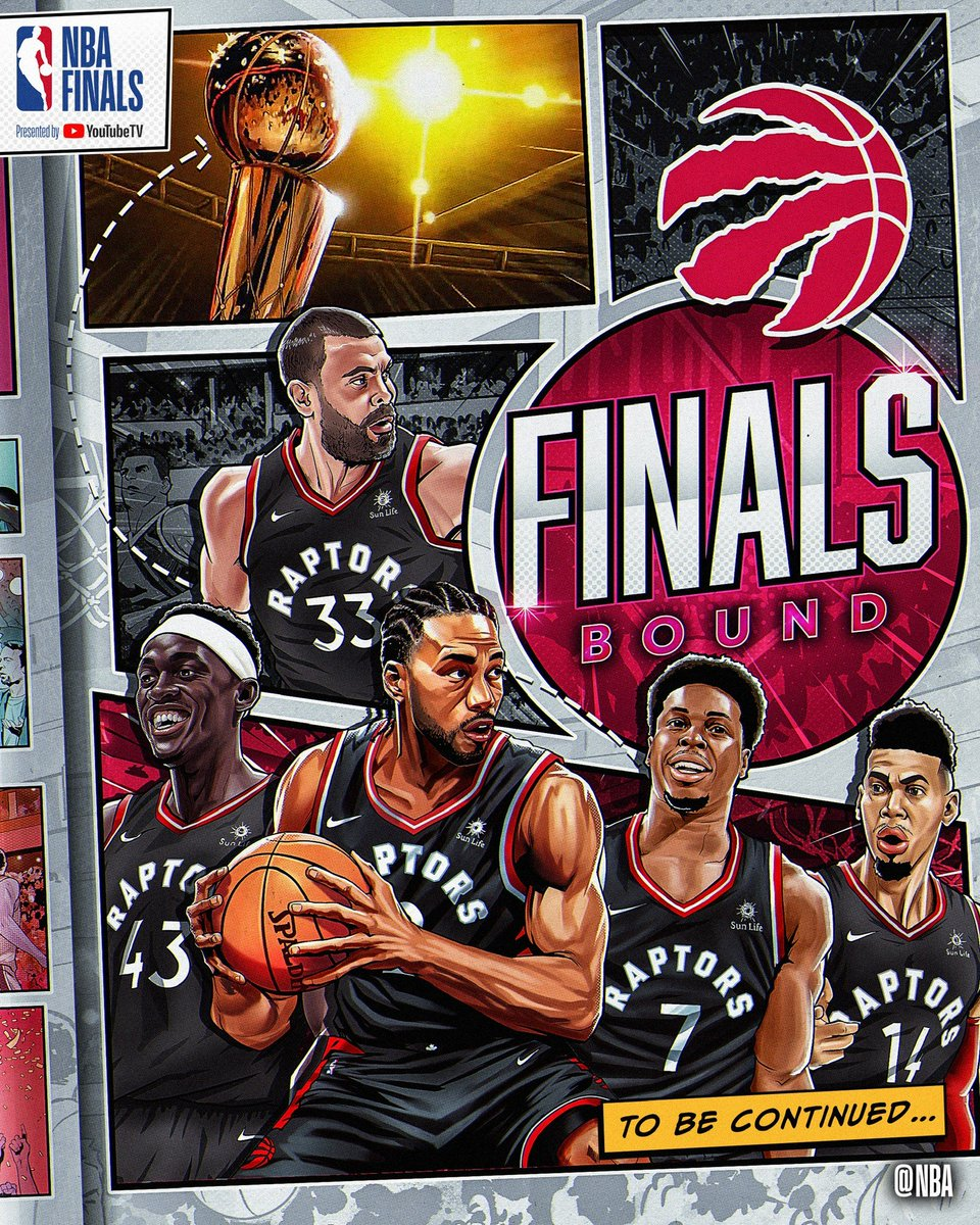 The @Raptors win the East & advance to their first #NBAFinals Presented by @YouTubeTV in franchise history! #WeTheNorth