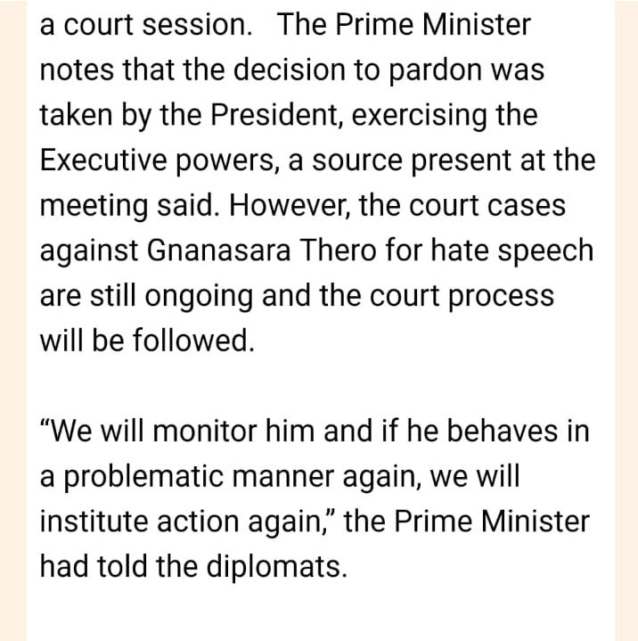 After silence on #Gnanasara, is this really the best @RW_UNP can come up with? #lka #srilanka #impunity