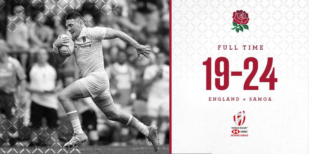 test Twitter Media - HSBC #London7s 🇬🇧  A disappointing start to Day 2 as England are beaten by Samoa in extra time: https://t.co/XkpHnJ9gf6 https://t.co/8H7nSUHJa9