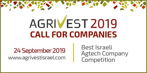 Last chance to apply to present your #agtech company at #AgriVest2019  https://www.agrivestisrael.com/call-for-companies-2019…