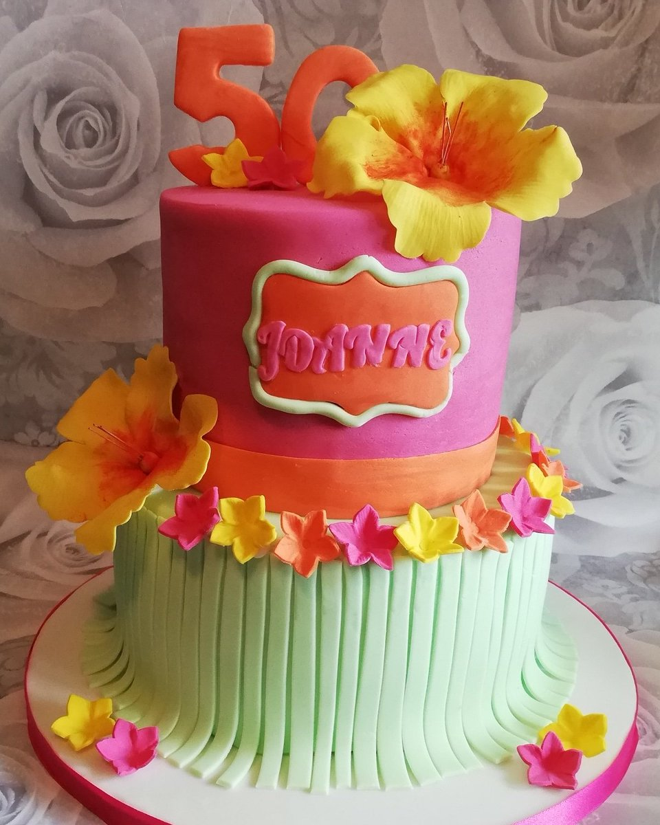 Pleasing Alison Hayman On Twitter Hawaiian Themed Cake For A 50Th Funny Birthday Cards Online Overcheapnameinfo