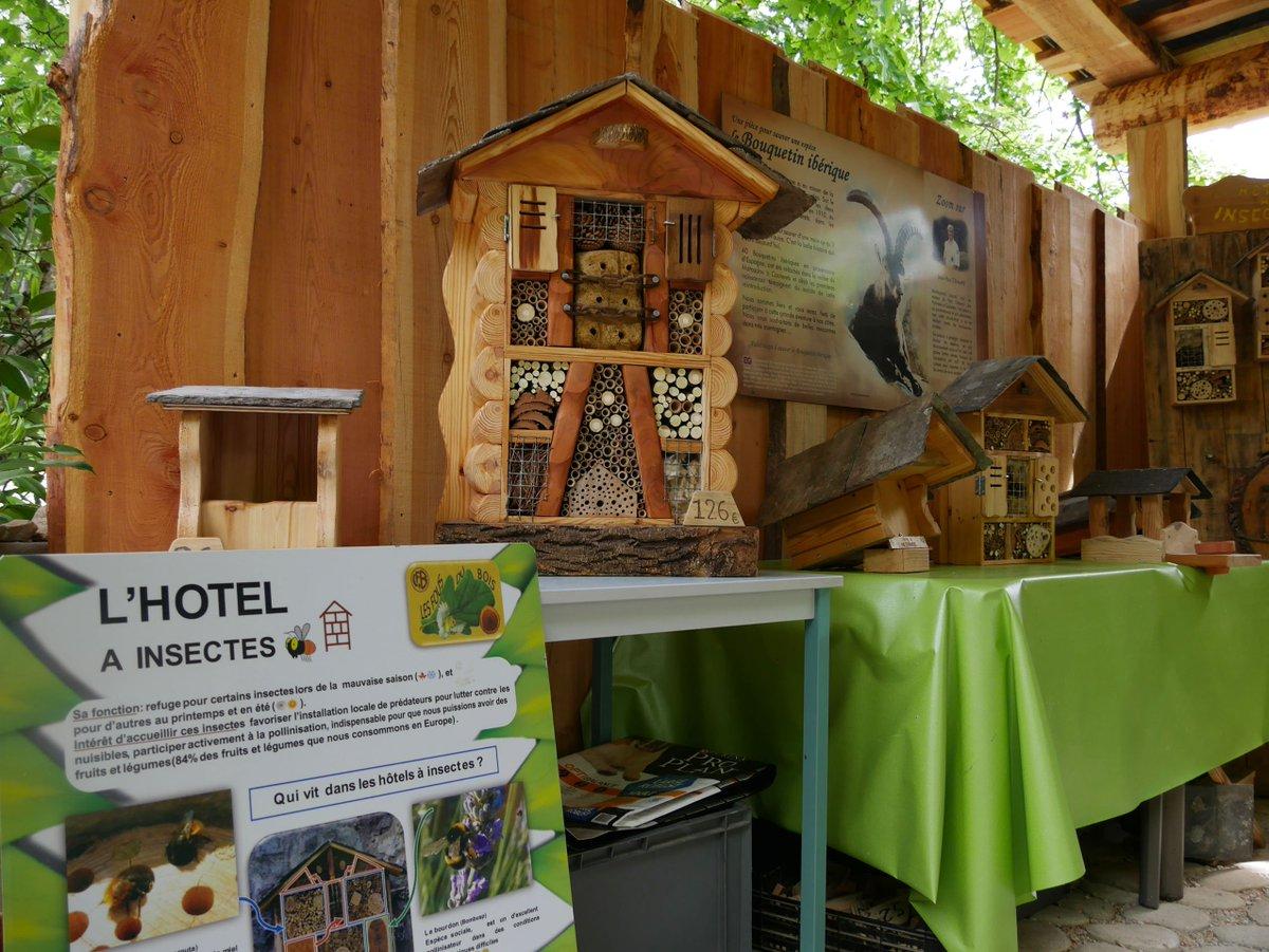 """Hotel A Insecte Fabrication parc animalier des pyrénées on twitter: """"? aujourd'hui nous"""