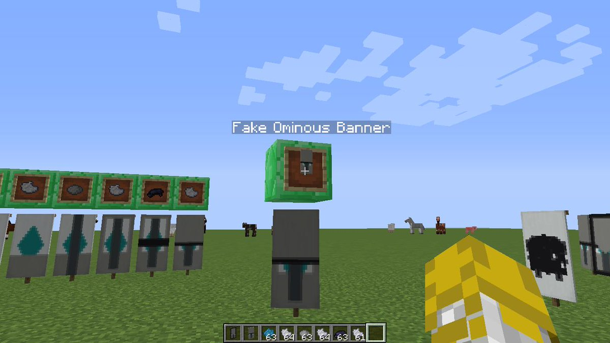How to make a Fake Ominous Banner - Show Your Creation - Minecraft