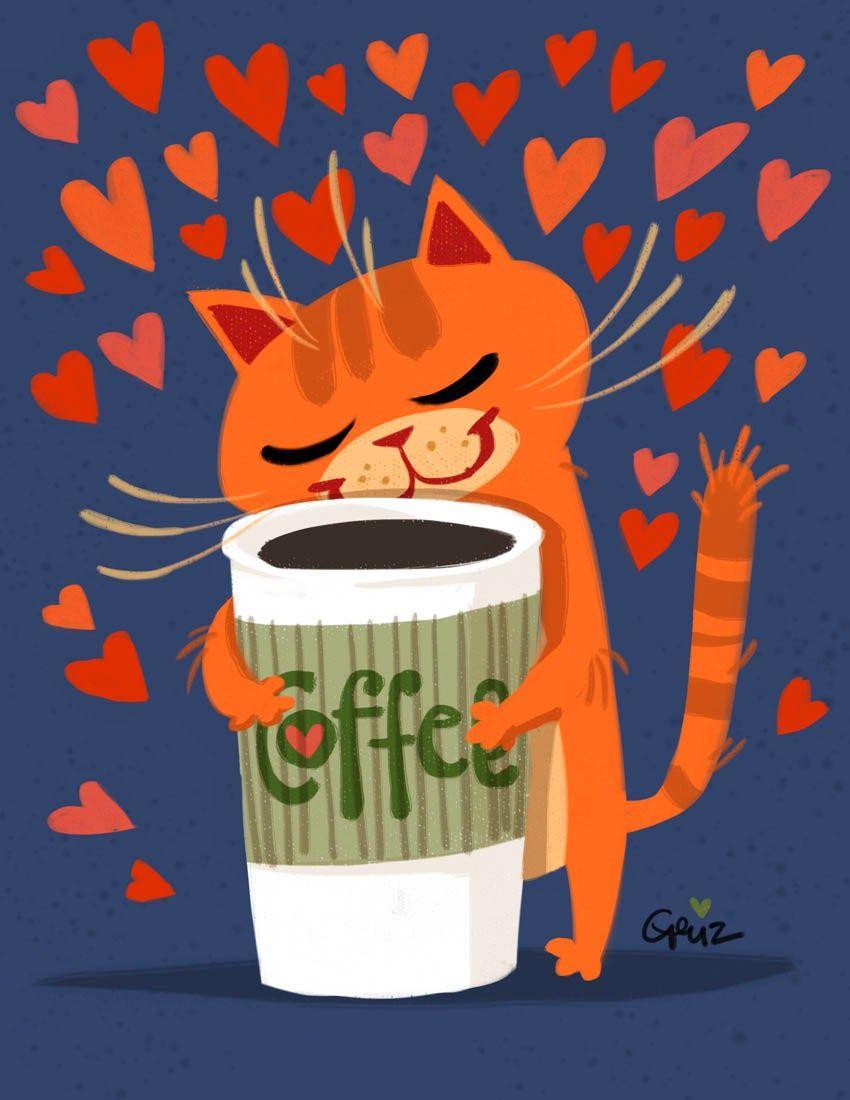 Доброе утро кот картинки мультяшная, годовщиной свадьбы открытки