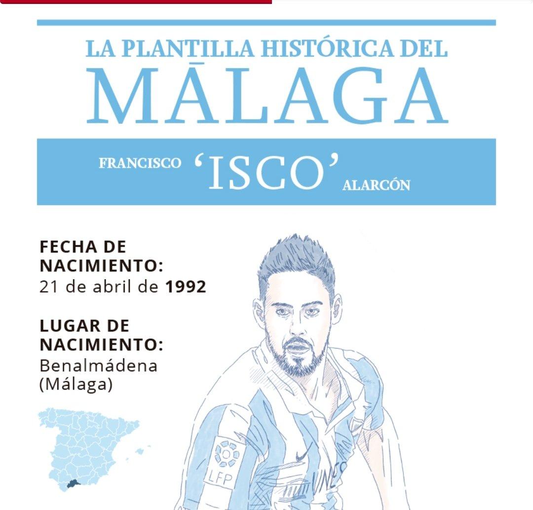 SURon+   Hoy en nuestra plantilla histórica del @MalagaCF, @isco_alarcon, 'el duende de Arroyo de la Miel'  vía @Sergioboqueron
