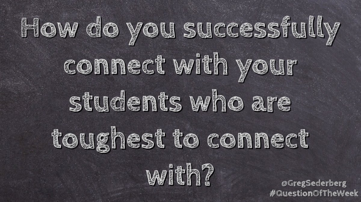#QuestionOfTheWeek. What are some strategies you use to connect?