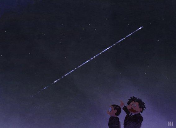 """中村豪志 en Twitter: """"スターリンク衛星群、さすがに星もロクに見え ..."""