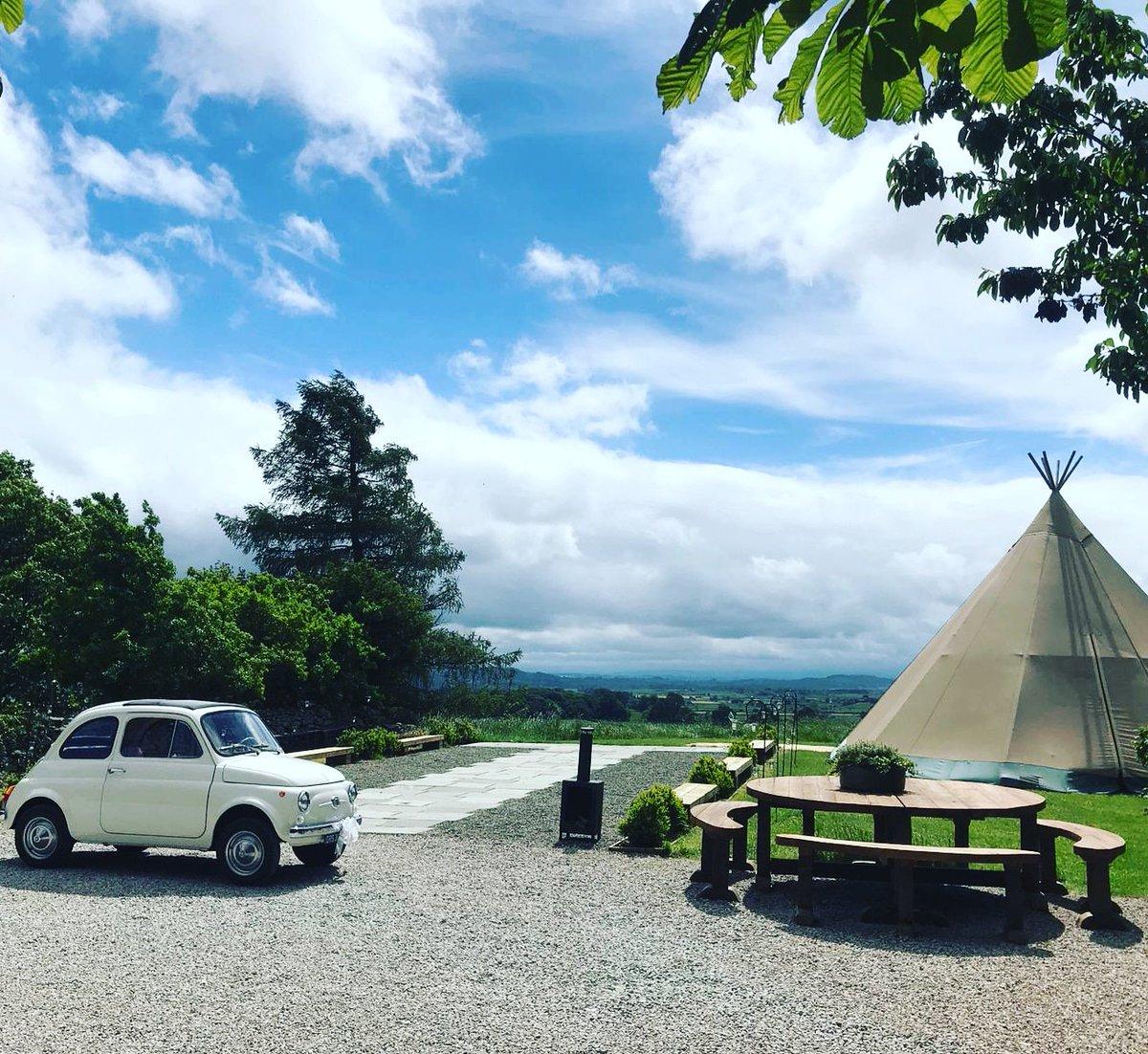 Stunning location for a wedding at Paddock Barn near Kendal #fiat500