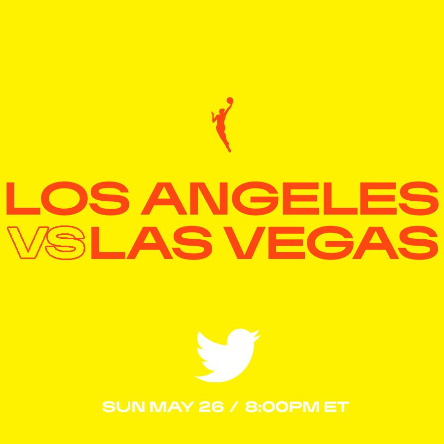 Nothing like Sunday basketball 🏀 Tonight, it's a Battle of the West coast! @LA_Sparks clash with @LVAces in Vegas.  ⏰ 8PM ET on @Twitter #WNBA