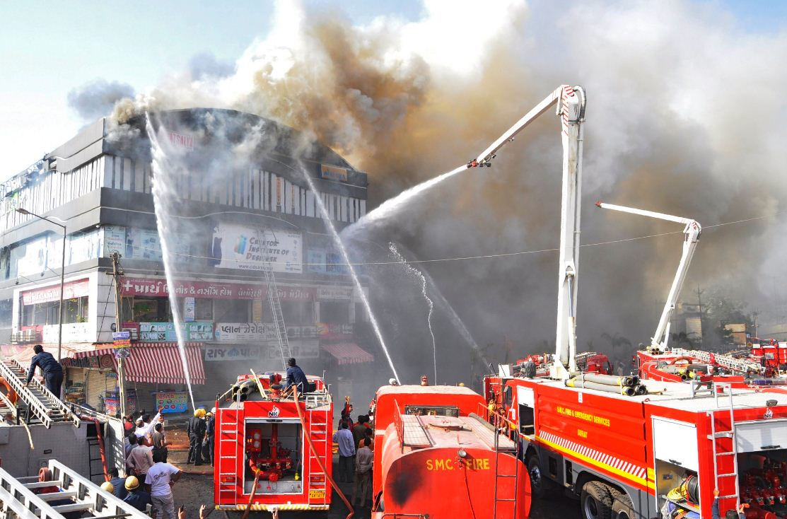 Surat fire tragedy: Builders arrested, SMC official suspended, demolition and sealing drives continue