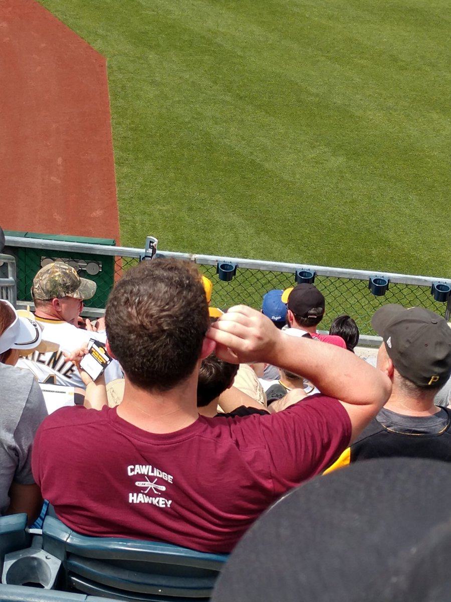 @Buccigross #cawlidgehawkey in front of me here in right field PNC Park