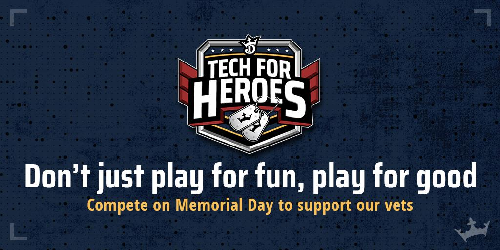 Military heroes turned tech heroes.  Support our vets this #MemorialDay with #TechForHeroes: https://dkng.co/2K2u7pj