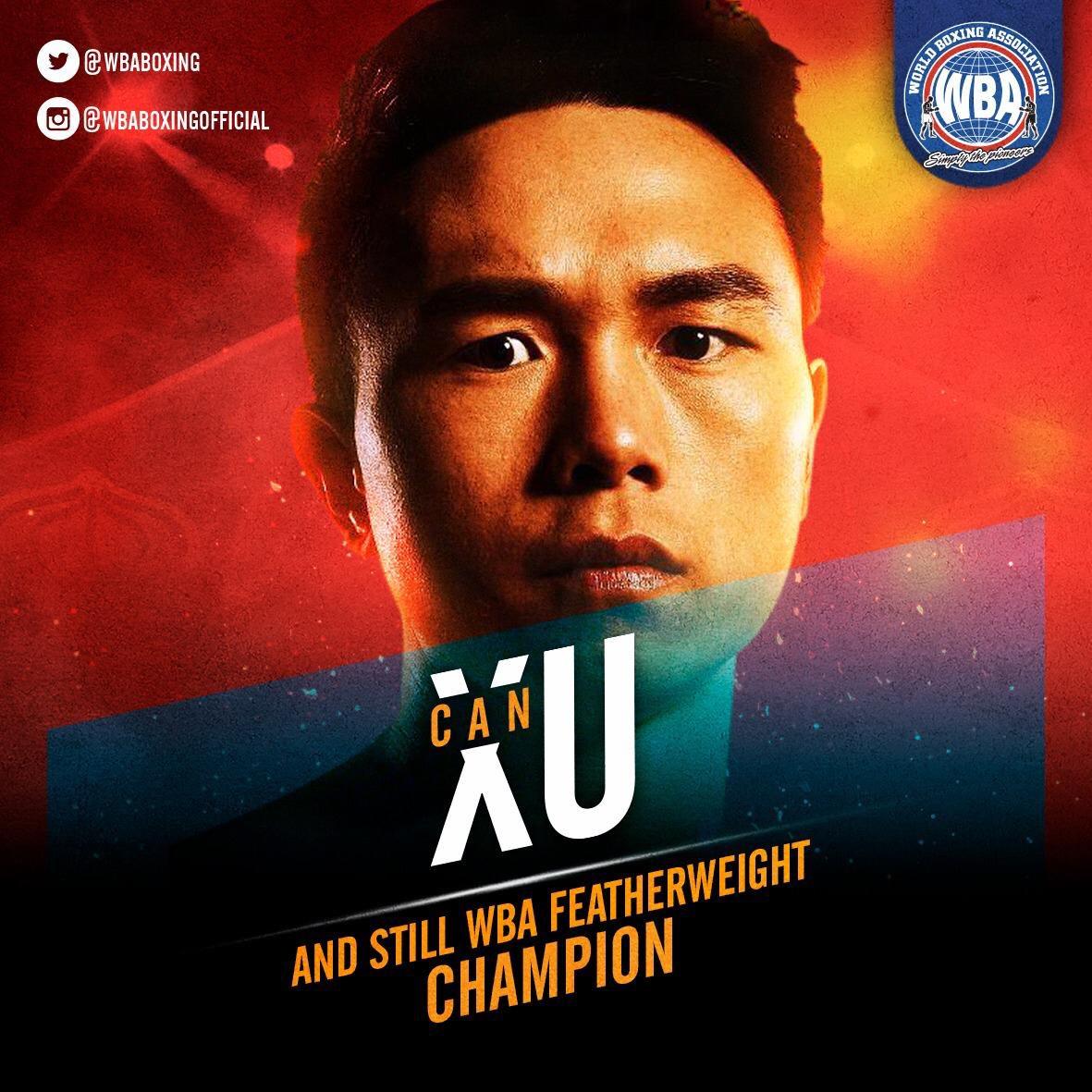 #AndStill WBA Featherweight Champion Can Xu Xu stops Kubo with TKO 6  #WBAboxing