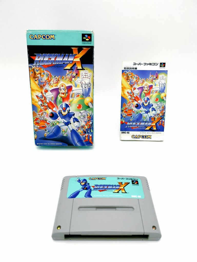 Rockman X - Capcom - Super Famicom - 12.1993 - Jap 🇯🇵  #CIBsunday #RetroGaming #MegaManWeek   Et demain nouveau concours sur le thème de Mega Man! 🙂 https://t.co/ha6h0SzRjI