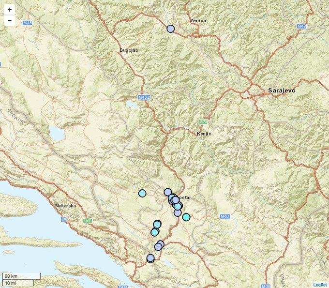 Potres zaljuljao Hercegovinu
