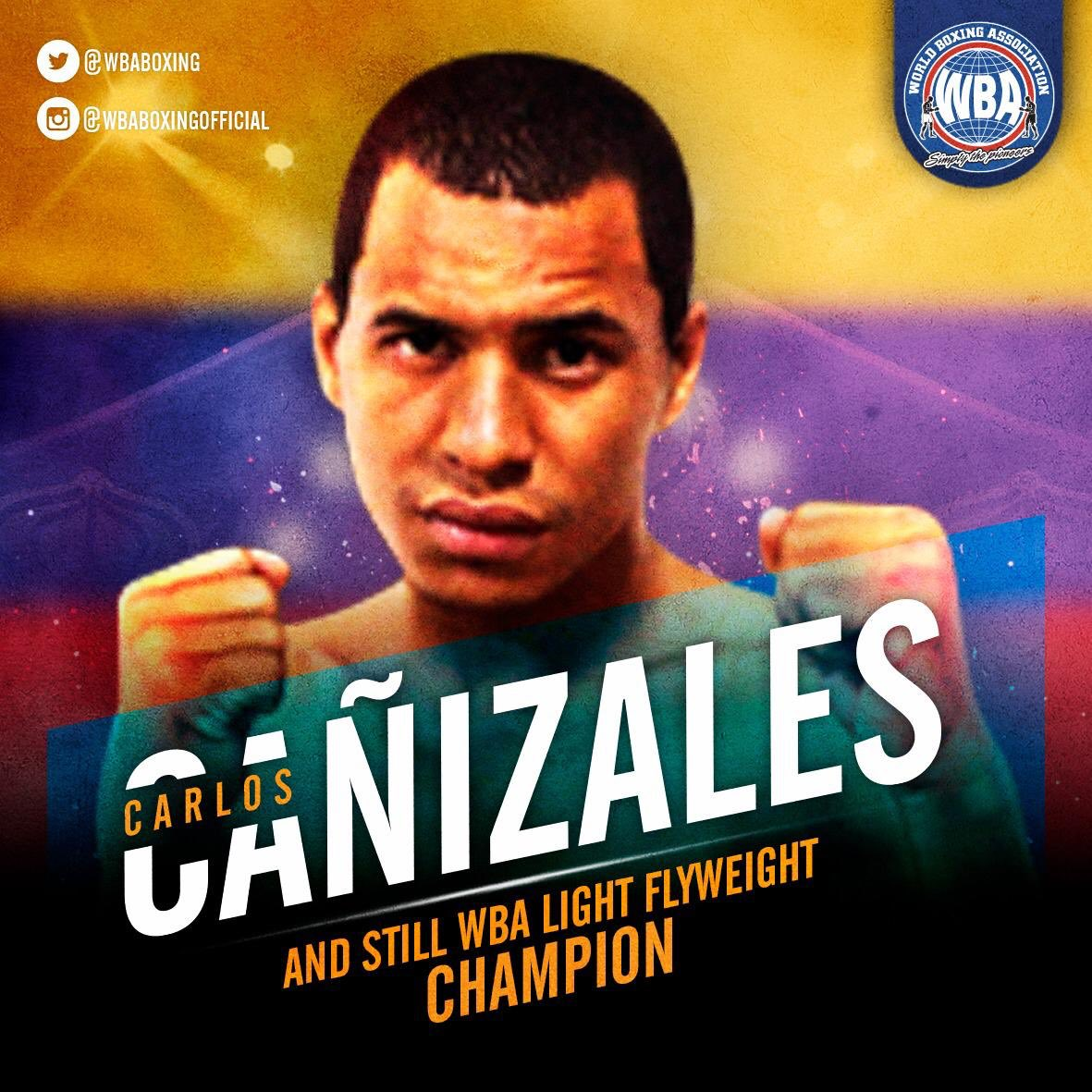 #AndStill WBA Light Flyweight Carlos Cañizales   Cañizales scores UD victory over Kimura  #WBAboxing