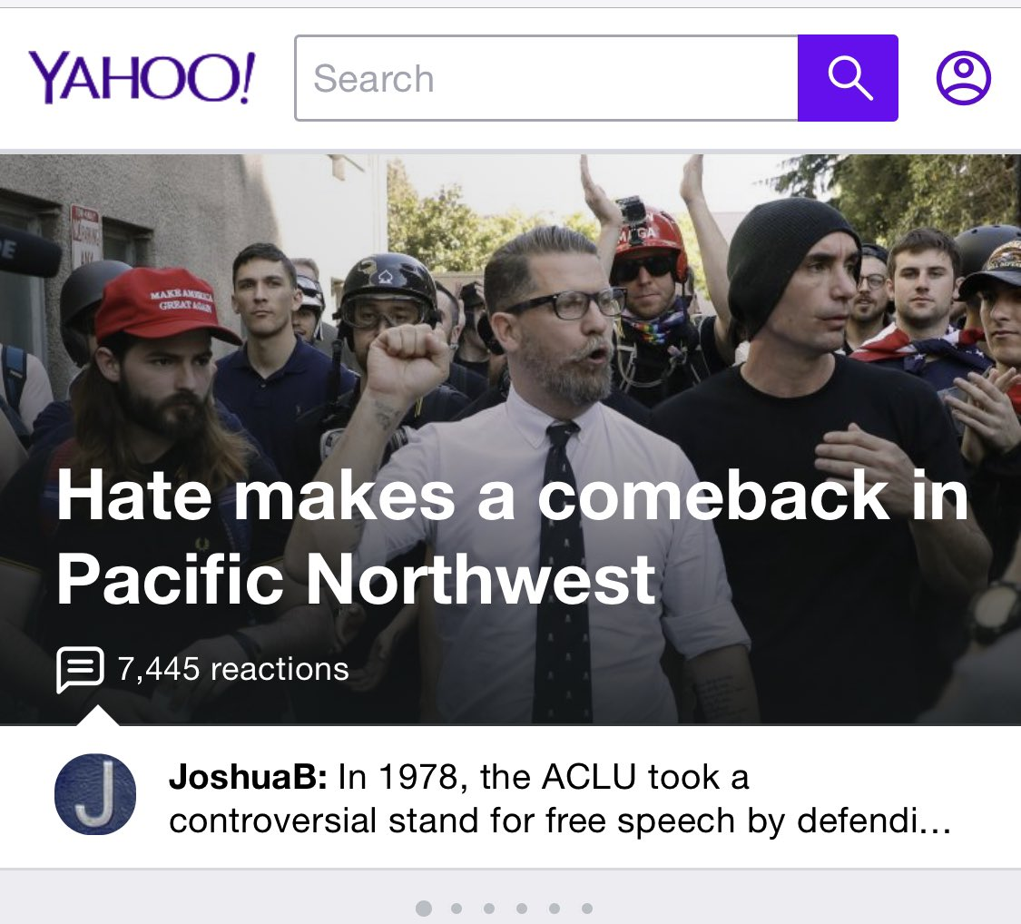 Hey @Yahoo:  Gavin McInnes isn't in the article. He's got nothing to do with the topic of the article. And this picture was taken at a non-violent event in Berkeley.    California.  Two years ago.  The use of his photo with this headline is defamatory. And this is your warning.