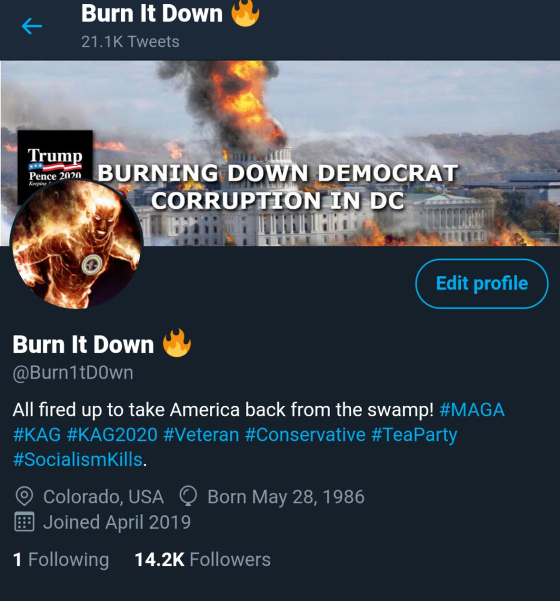 My profile shows I'm only following 1 person, but that's a lie! Twitter is screwing with my account! 🤬