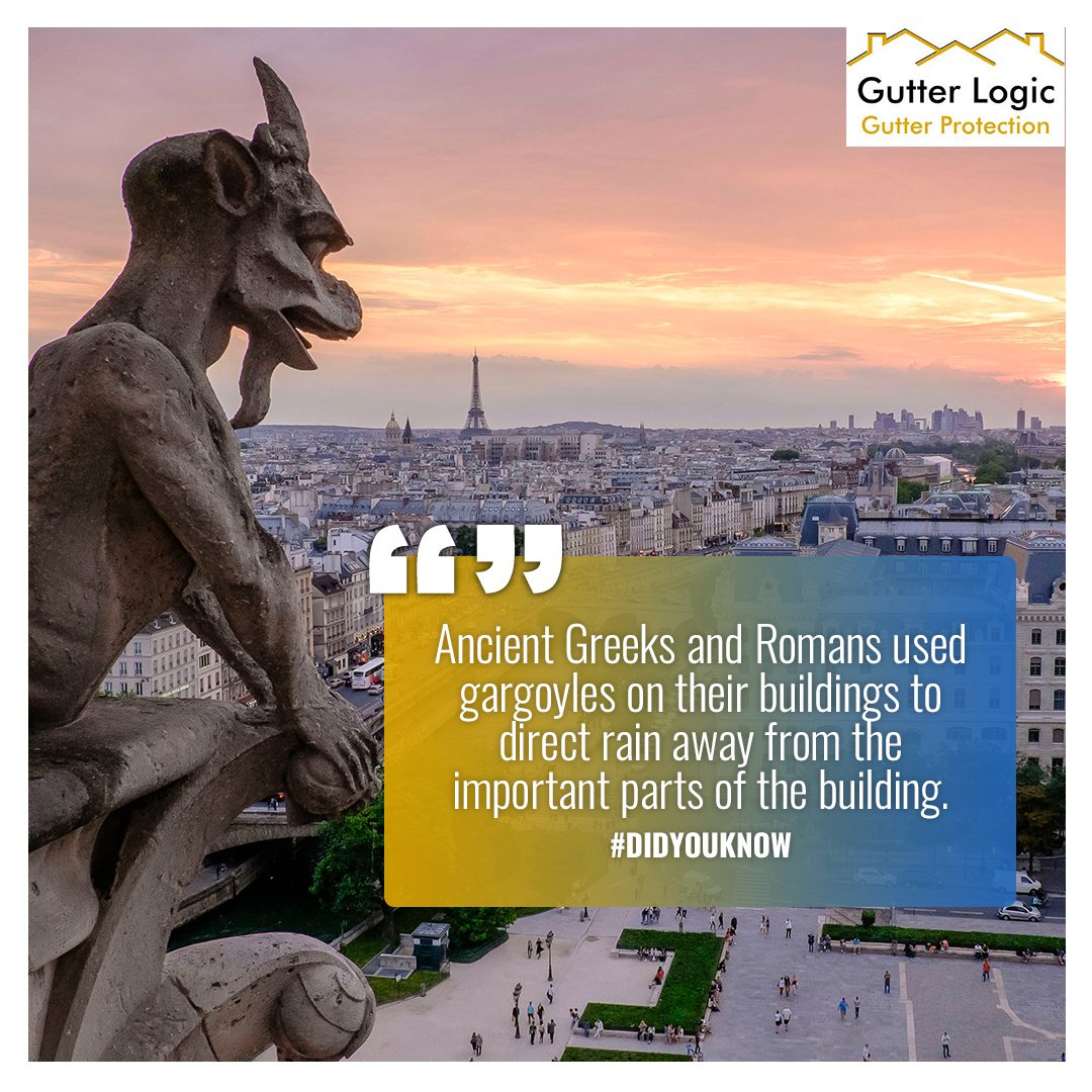 Many believe gargoyles were also used to ward off evil spirits. #DidYouKnow