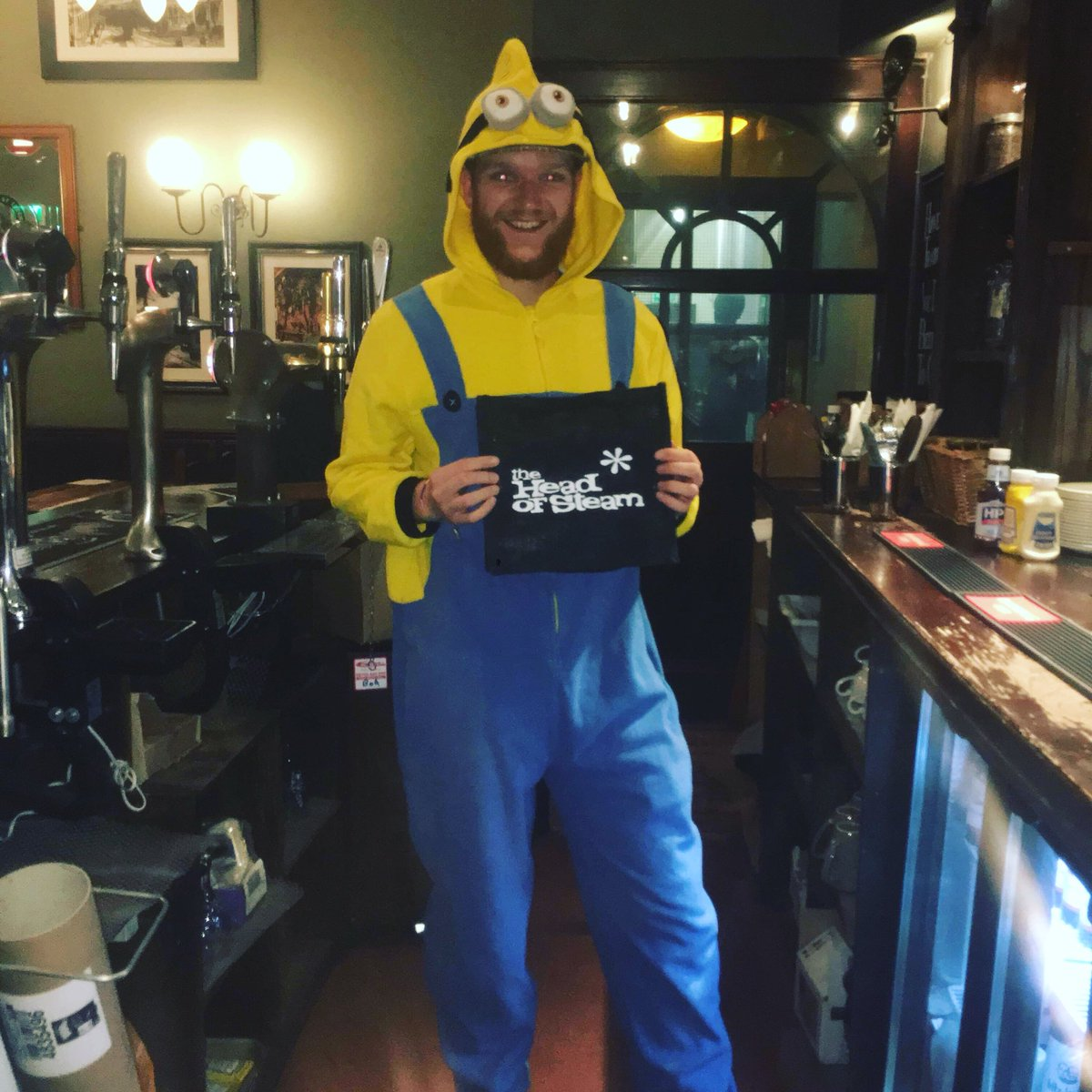 Its important to have fun where you work, #mademyday #headofsteamhuddersfield #cameronsbrewery #headofsteam #funatwork #craftbeer #hardatwork #hardwork #grafting
