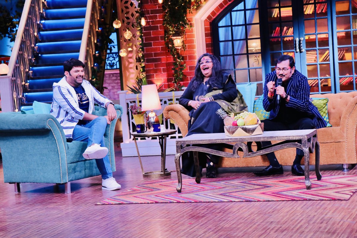 One of the most endearing and entertaining episode @KapilSharmaK9. #TheKapilSharmaShow was beyond beautiful with #UshaUthup and #SudeshBhosle @SonyTV