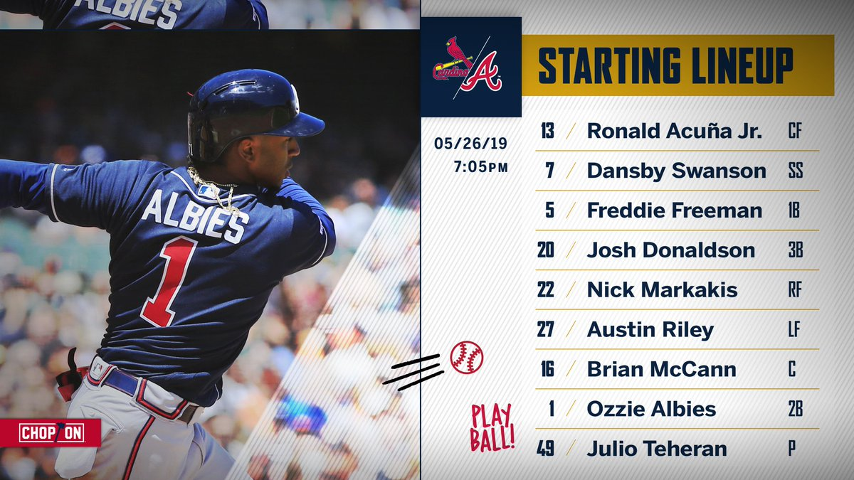 Atlanta Braves's photo on Sunday Night Baseball