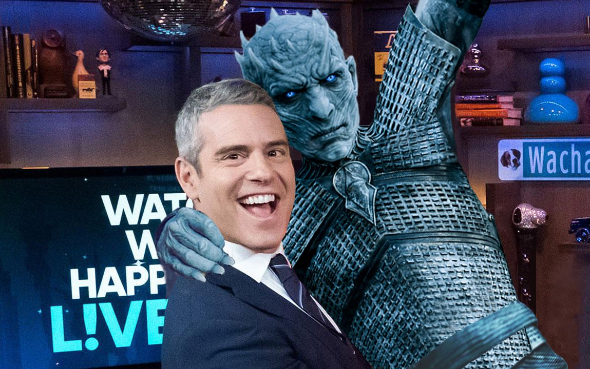 Andy Cohen (@kennygstevenson) hosts the LIVE Game of Thrones reunion special right here on i4h! Feat. the amazing @MrChadCarter, @LILmookieB, @Tonicharline, @A___L___i,, @vicmmic, & @pizzamannion w/ @MattBesser! #GameOfThrones #GOTFinale   Listen here:  http:// buff.ly/2ErEJdH    <br>http://pic.twitter.com/JEYcNcUWD9