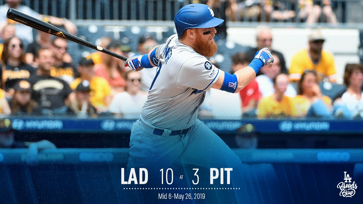 In the sixth inning, the Dodgers scored: runs