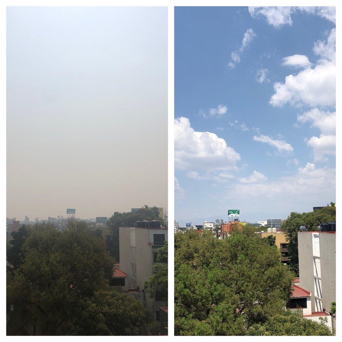 9 days ago vs. today #CDMX