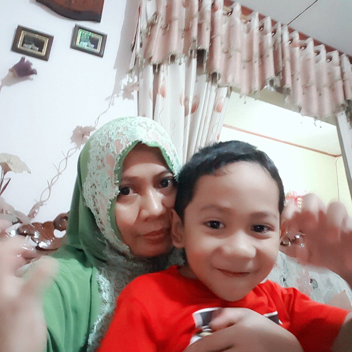 Tadi mlm ... with My Lovely Little Boy ... neph Fasy ☺😊😄😉😇