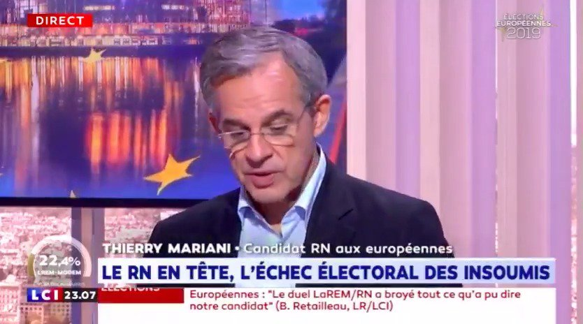 Image for the Tweet beginning: 📺 @ThierryMARIANI, candidat sur la