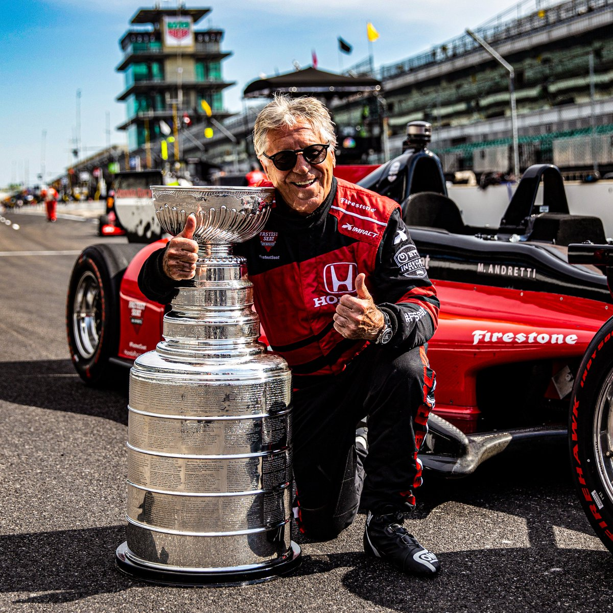From the #Indy500, to the #StanleyCup.  Good luck to our friends at @NHLonNBCSports as the @StLouisBlues and @NHLBruins clash in Game 1 of the Final tonight on @NBC!  @IndyCar // @MarioAndretti